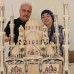 Eşi için yaptığı cami maketi hayran bırakıyor!