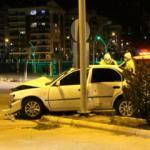 Amasya'da otomobiller çarpıştı: 2 yaralı