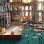 Ayasofya-i Kebir Camii'nde restorasyon ve konservasyon için kurulan iskele söküldü