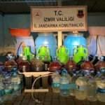İzmir'de 972 litre kaçak alkol ele geçirildi