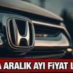 Honda araç modelleri Aralık ayı fiyatları: Sıfır Civic CR-V HR-V fiyat listesi
