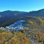 Küre Dağları'nın bir yanında sonbahar diğer yanında kış manzaraları