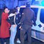 Kısıtlamada takside uyuşturucuyla yakalandılar; Gazetecilere küfür edip tehdit ettiler