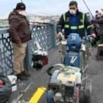 Olta balıkçılarına 3 metre şartı! Galata Köprüsü'ne sarı çizgiler çizildi