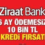 Ziraat Bankası 6 ay ödemesiz 36 ay vade ile kredi! Banka kredi başvuru ekranı