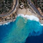 Kaputaş Plajı'nın rengi turkuaza dönüştü