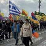 Yunan, Ermeni, PKK, ve DHKP-C'liler Avrupa ülkesinde el ele eylem yaptı!