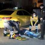 Alkollü müşteri taksi durağına kılıçla saldırdı