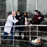 Maltepe'de özel hastanede korkutan yangın