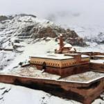 """""""Medeniyetler Beşiği"""" İshak Paşa Sarayı'nda kış güzelliği"""