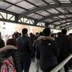 Metro ve metrobüste sabah yoğunluğu