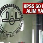 DİB KPSS 50 puan ile 40 kadrolu personel alımı! Başvurular sürüyor!