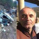 Feci kaza: Otomobil uçuruma devrildi