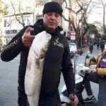 Amatör balıkçı, 6 kilo 380 gram ağırlığında levrek avladı