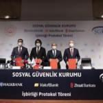 SGK'dan 3 kamu bankası ile iş birliği