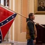 ABD'de Kongre baskınında Konfederasyon bayrağı açan kişi yakalandı