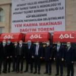 Aksaray'da 24 çiftçiye yem karma makinası dağıtıldı