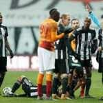 Galatasaray 10 kişi kaldı! Terim'den yoğun itiraz...