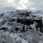 Girlevik Şelalesi 'buz dağı' oldu