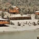Tahtalı Yaylası'nda büyüleyen kar manzarası