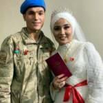 Uzman çavuş, nikaha askeri üniformasıyla katıldı