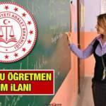 Adalet Bakanlığı kadrolu öğretmen alım ilanı! Başvuru şartları neler?