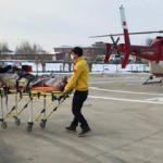 Helikopter ambulans 78 yaşındaki hasta için havalandı