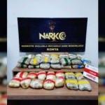 Konya'da 29 kilo 580 gram uyuşturucu ele geçirildi