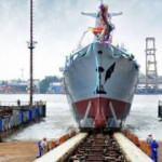 Pakistan için üretilen 2'inci savaş gemisi de denize indirildi