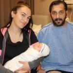 Ölüm kalım savaşı verdiği hastanede oğlu dünyaya geldi