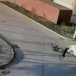 Bursa'da feci kaza! Bisikletli genci böyle savurdu