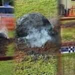 Okul bahçesine düşen 'kaya parçası' panik yarattı, devreye NASA girdi