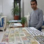 Para koleksiyonu yapmak için 50 bin TL harcayarak 250 parça eski para biriktirdi