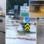 İzmir'de sağanak hayatı felç etti! CHP'li Belediye Başkanı uyardı: Trafiğe çıkmayın