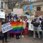 Fransa'da PKK yandaşları ve LGBT'lilerden Boğaziçi'ne destek eylemi