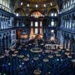 Ayasofya Camii'nin tüm ihtişamı iskele sökülünce ortaya çıktı!