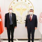 Bakan Koca, Macar Bakan Szijjarto ve İtalya'nın Ankara Büyükelçisi Gaiani ile görüştü