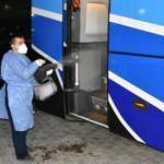 Kırıkkale'de yolcu otobüsünde koronavirüs paniği