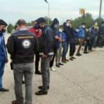 Yol uygulamasında 10 kaçak göçmen yakalandı