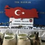 Bingöl'eki operasyonda silah ve esrar ele geçirildi