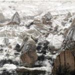 Kapadokya'dan tablo gibi kış manzaraları