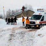 Hasta kadın, paletli ambulansla 5 saatte hastaneye ulaştırıldı