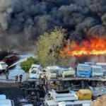 Umman'da sanayi bölgesinde büyük yangın