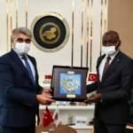 Burkina Faso'nun Ankara Büyükelçisi Brahima Sere, Karabük Valisi Gürel'i ziyaret etti