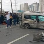 TEM'de feci kaza! Trafik durma noktasına geldi