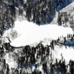 Buz tutan Karagöl fotoğraf tutkunlarının gözdesi oldu