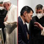 Erbil'i ziyaret eden Papa Francis'e Aylan Kurdi'nin babası tablo hediye etti