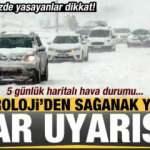 Meteoroloji'den son dakika kar yağışı ve sağanak uyarısı! İl İl haritalı hava durumu...