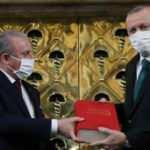 Cumhurbaşkanı Erdoğan '100. yılında İstiklal Marşı Sergisi'ne katıldı