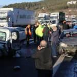Feci kaza: 9 araç birbirine girdi!